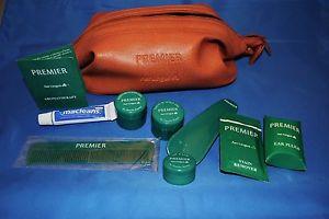 Vintage Aer Lingus leather travel amenities kit toiletries Daniele Ryman