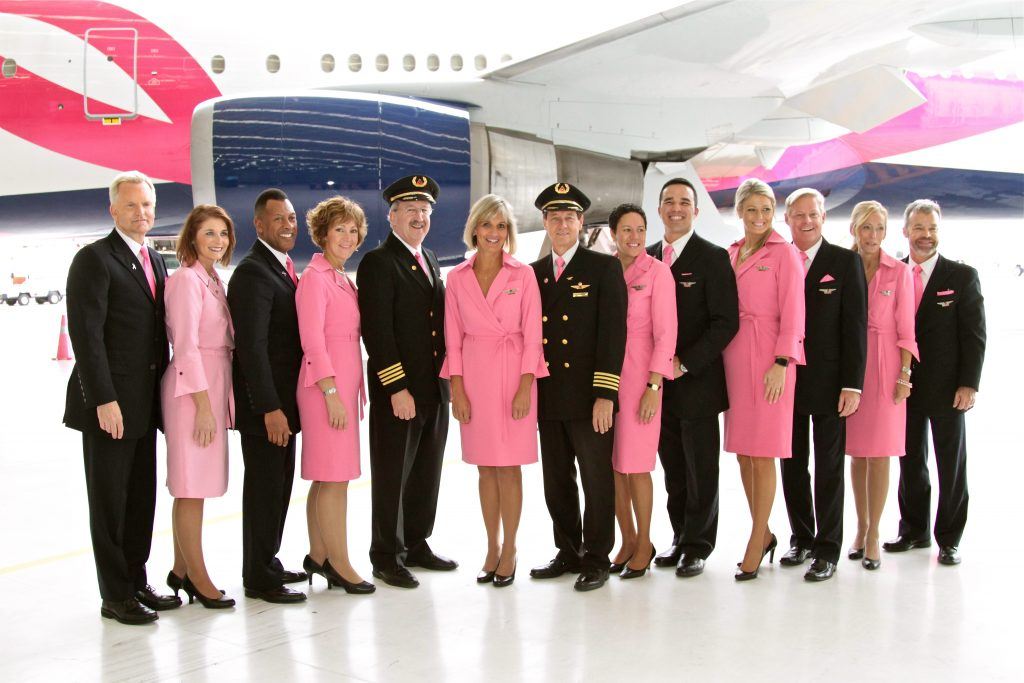 Delta Air Lines Pink Dress and Tie