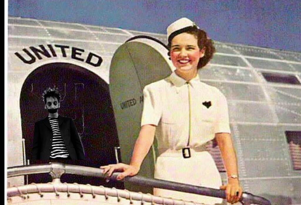 The first female flight attendant, Ellen Church.