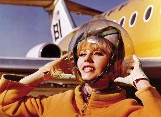 ". The Space Suit"" cabin crew uniform worn by Braniff International Airways, designed by Emilio Pucci 1965."