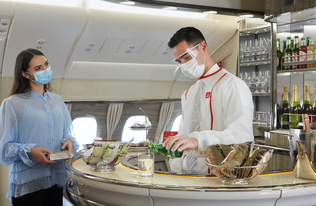 Emirates Iconic A380 Onboard Lounge and Shower Spa services re-open