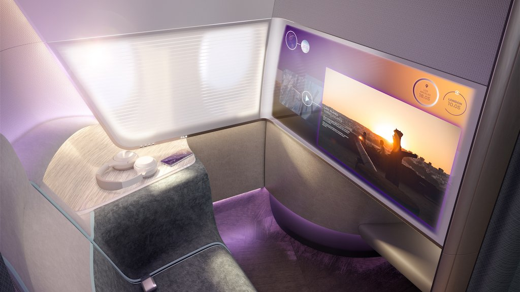 Pure Skies Room IFE system fully synchronised with the passengers' own devices